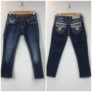 Rock Revival Dark Wash Nancy Easy Crop Jeans